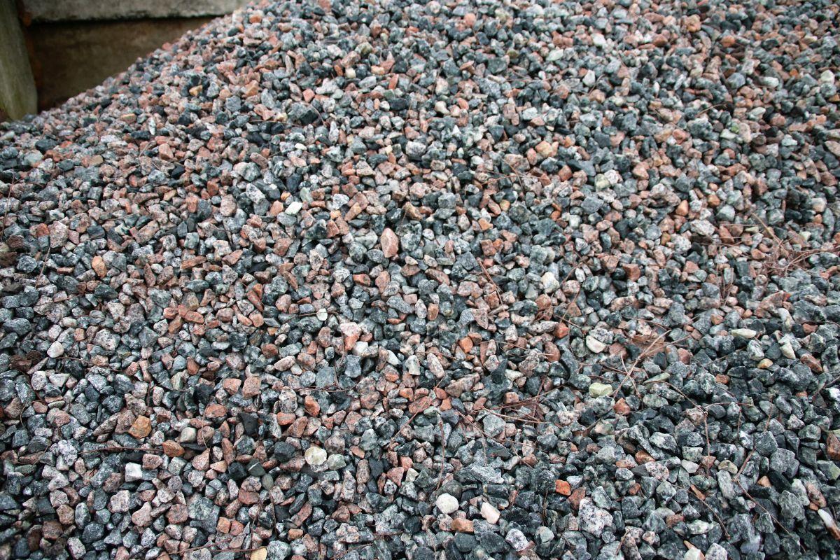 Granitsplitt bunt
